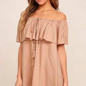 Lulu's Blush off the Shoulder Dress